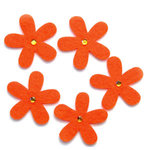 Queen and Company - Jeweled Felt Flowers - Orange, CLEARANCE