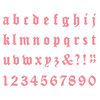 Lifestyle Crafts - Die Cutting Template - Mini Alphabet - Haunted
