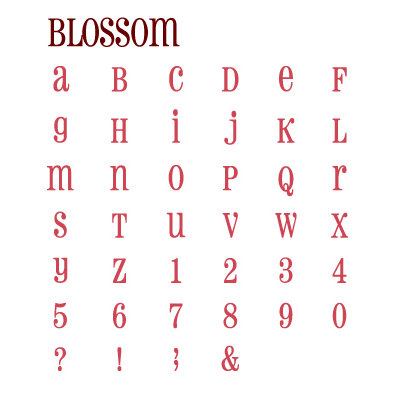 Quickutz - Grand Unicase Alphabet Die Cut Set With Case - Blossom