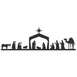 Lifestyle Crafts - Die Cutting Template - Christmas - Nativity Border