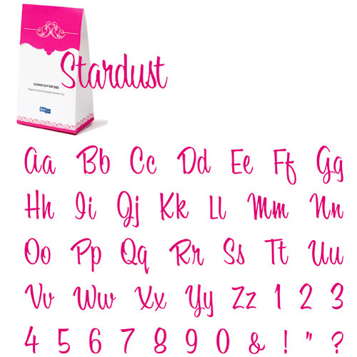QuicKutz - Cookie Cutter Dies - Grand Complete Alphabet Set - Stardust, CLEARANCE