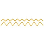 Lifestyle Crafts - Cookie Cutter Dies - Border - Chevron