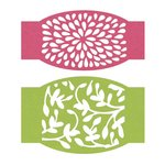 Lifestyle Crafts - Cookie Cutter Dies - Floral Belly Band Inserts