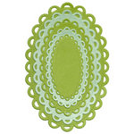 Lifestyle Crafts - Quickutz - Cookie Cutter Dies - Nesting Lace Ovals