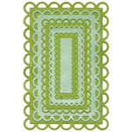 Lifestyle Crafts - Quickutz - Cookie Cutter Dies - Nesting Lace Rectangles