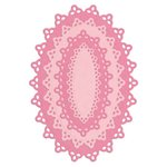 Lifestyle Crafts - Quickutz - Die Cutting Template - Nesting Doily Ovals