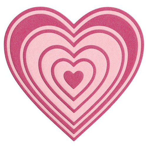 Lifestyle Crafts - Die Cutting Template - Nesting Hearts