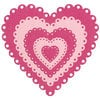 Lifestyle Crafts - Die Cutting Template - Nesting Eyelet Hearts