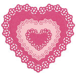 Lifestyle Crafts - Die Cutting Template - Nesting Doily Hearts