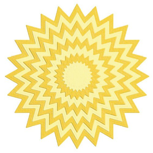 Lifestyle Crafts - Quickutz - Die Cutting Template - Nesting Pinking Circle