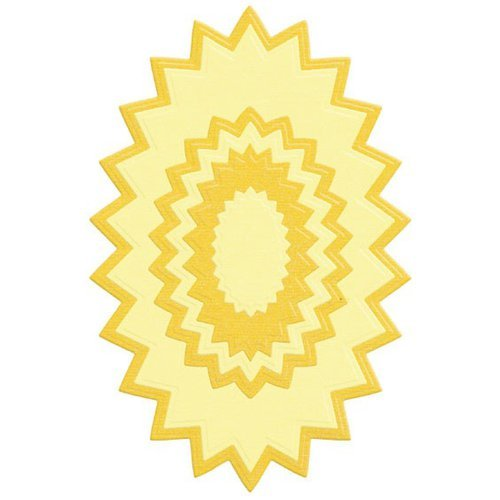 Lifestyle Crafts - Quickutz - Die Cutting Template - Nesting Pinking Oval