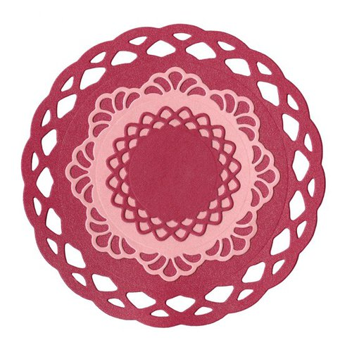 Lifestyle Crafts - Quickutz - Cookie Cutter Dies - Nesting Lace Doilies
