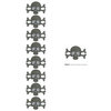 Lifestyle Crafts - Die Cutting Template - Skull and Crossbone Punches