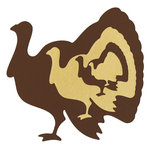 Lifestyle Crafts - Die Cutting Template - Nesting Turkeys