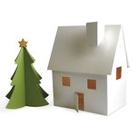 Lifestyle Crafts - Christmas - Die Cutting Template - Village