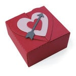 Lifestyle Crafts - Die Cutting Template - Heart Box