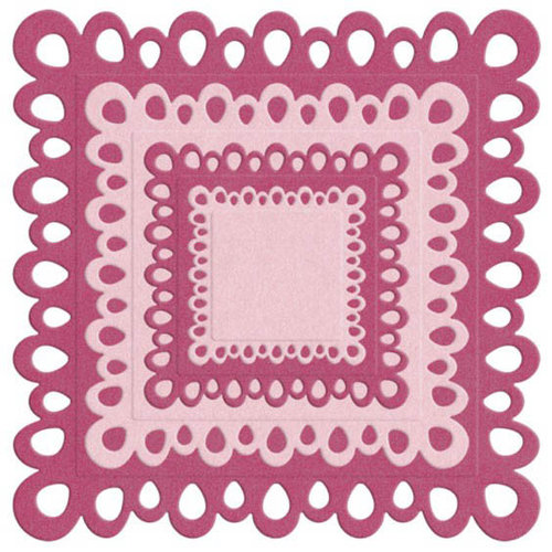 Lifestyle Crafts - Die Cutting Template - Nesting Square Doilies