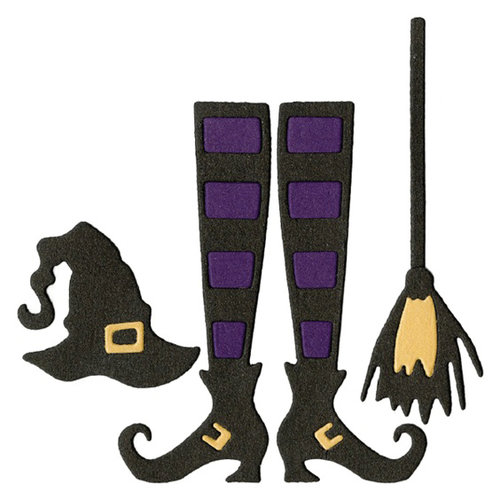 Lifestyle Crafts - Halloween - Die Cutting Template - Witch Kit