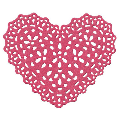 Lifestyle Crafts - Die Cutting Template - Heart Doily