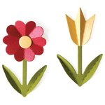 Lifestyle Crafts - Die Cutting Template - Spring Flowers