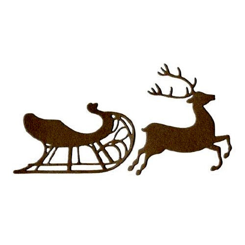 Lifestyle Crafts - Die Cutting Template - Christmas - Sleigh and Reindeer