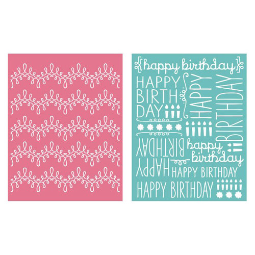 Lifestyle Crafts - QuicKutz - Embossing Folders - Happy Birthday