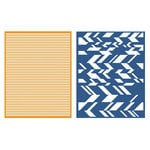 Lifestyle Crafts - GooseBumpz Embossing Folders - Chevron