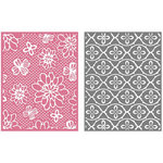 Lifestyle Crafts - GooseBumpz Embossing Folders - Flower Patch