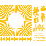 QuicKutz - Letterpress - Printing Plate Set 1 - Celebrations