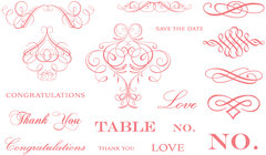 QuicKutz - Letterpress - Printing Plate Set 1 - Wedding