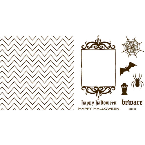 QuicKutz - Letterpress - Halloween - Printing Plate Set 1 - Holiday
