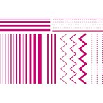 Lifestyle Crafts - Letterpress - Printing Plate Set - Striped