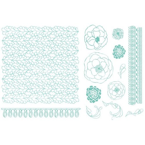 Lifestyle Crafts - Letterpress - Printing Plate Set - Ruffles