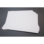 Lifestyle Crafts - Letterpress - Paper - 12 x 12 Flat - Thin - White