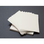 Lifestyle Crafts - Letterpress - Paper - A7 Flat - Thick - Cream