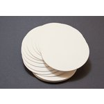 Lifestyle Crafts - Letterpress - Paper - Circle - Cream