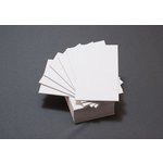 Lifestyle Crafts - Letterpress - Paper - Mini Flat - Thick - White