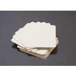 Lifestyle Crafts - Letterpress - Paper - Rounded Square - Cream