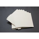 Lifestyle Crafts - Letterpress - Paper - Square Flat - Thick - Cream