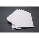 Lifestyle Crafts - Letterpress - Paper - Square Flat - Thick - White