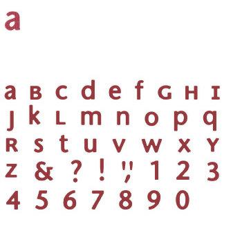 Quickutz - Metro - SkinniMini Unicase Alphabet Set