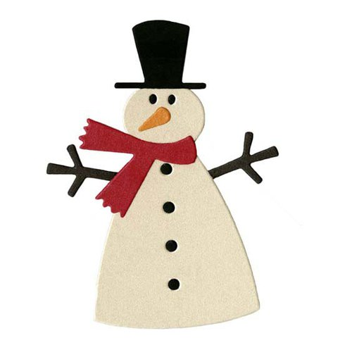Lifestyle Crafts - Die Cutting Template - Christmas - Snowman 2