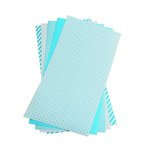 Lifestyle Crafts - Shape 'N Tape - 6 x 12 Decorative Adhesive Sheets - Teal Blue