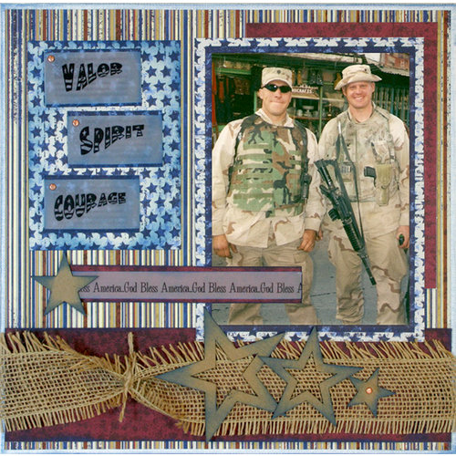 Quick Quotes - 12 x 12 Canvas Panel Kit - Valor, Spirit, Courage