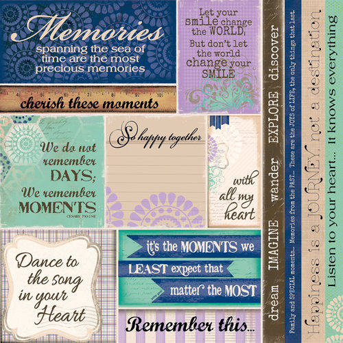 Quick Quotes - Dusty Road Collection - 12 x 12 Paper - Phrases