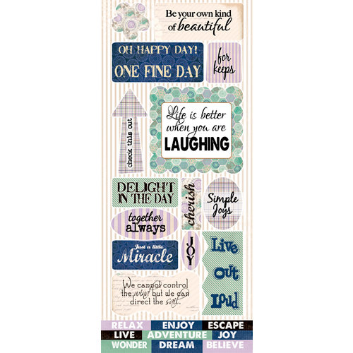 Quick Quotes - Dusty Road Collection - Die Cut Cardstock Stickers