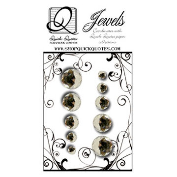 Quick Quotes - Paint it Black Collection - Bling - Clear Jewels, CLEARANCE