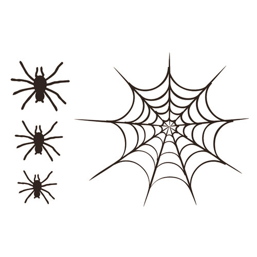 Quick Quotes - Halloween Collection - Cardstock Laser Die Cut Pieces - Spider Web