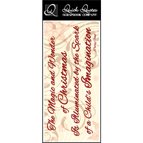 Quick Quotes - Christmas Collection - Color Vellum Quote Strip - Magic and Wonder