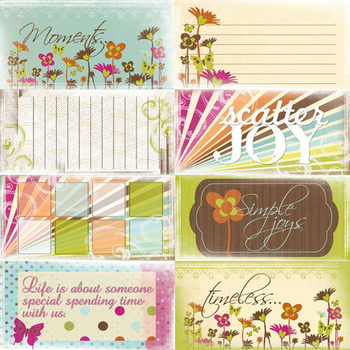 Quick Quotes - Just Because Collection - 12 x 12 Paper - Phrases